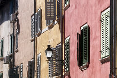 Traditional old town architecture of Rovinj, Croatia Stock Images