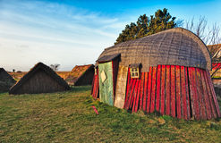 Traditional old Viking Age house Stock Images