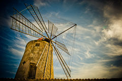 Traditional old windmill Royalty Free Stock Images