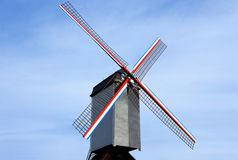 Traditional old windmill in Belgium Royalty Free Stock Image