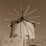 Traditional old windmill in Turkey Stock Images