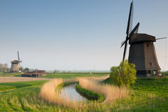 Traditional old windmills Royalty Free Stock Images