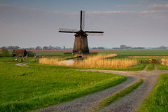 Traditional old windmills Royalty Free Stock Photos