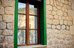 Traditional old window in the historic village Deia Royalty Free Stock Photos