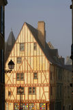 Traditional old wooden house in city center of Le Mans Stock Photography