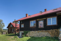 Traditional old wooden house, Poland Stock Photography