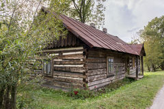 Traditional old wooden house, Poland Stock Photo