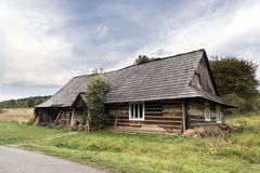 Traditional old wooden house, Poland Royalty Free Stock Photography