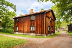 Traditional old houses in Oslo. Traditional old wooden houses in Oslo, Norway Royalty Free Stock Photography
