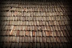 Traditional old wooden roof Royalty Free Stock Photos