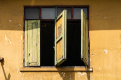 Traditional Old Wooden windows thai style Royalty Free Stock Image