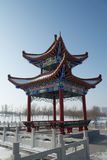 Chinese architecture pavilion Royalty Free Stock Photo