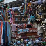 Traditional Oriental Bazaar Market in Turkey, Antalya royalty free stock photography