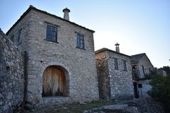 The traditional,oriental,Bosnian stone houses in Pocitelj royalty free stock photos