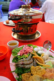 Traditional oriental charcoal steamboat Stock Images