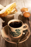 Traditional oriental Chinese coffee and breakfast royalty free stock photography