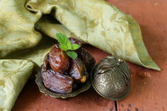 Traditional oriental dessert sweet  dates fruit Royalty Free Stock Image
