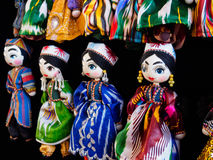 Traditional oriental doll in Bukhara Bazaar, Uzbekistan Royalty Free Stock Photo