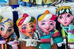 Traditional oriental doll in Bukhara - Uzbekistan Stock Photo