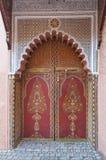 Traditional oriental door in Marrakesh Stock Image