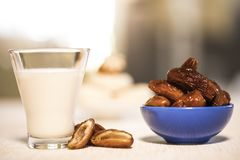 Oriental food for the Ramadan period. Traditional oriental food for the Ramadan period Royalty Free Stock Photography