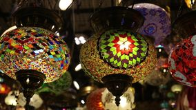 Traditional oriental lights stock footage