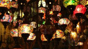 Traditional oriental lights stock video footage