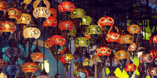 Traditional oriental lights Stock Photos
