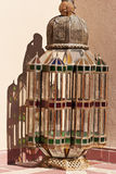 Traditional oriental Moroccan glass and metal lamp Royalty Free Stock Images
