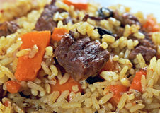 Traditional oriental pilaf Royalty Free Stock Images