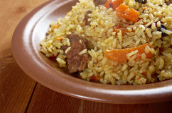 Traditional oriental pilaf Stock Photo