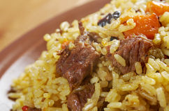 Traditional oriental pilaf Stock Image