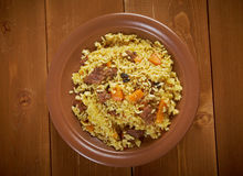Traditional oriental pilaf Stock Photography