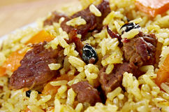Traditional oriental pilaf Royalty Free Stock Photo