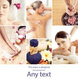 Traditional oriental rejuvenation treatments. Health care, massa Royalty Free Stock Image