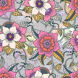 Traditional oriental seamless paisley pattern. Isolated. Vector Stock Photography