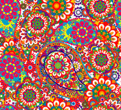 Traditional oriental seamless paisley pattern. Seamless background. Decorative ornament backdrop for fabric, textile Royalty Free Stock Photos