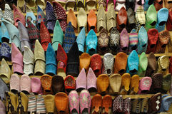 Traditional oriental shoes Stock Image