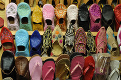 Traditional oriental shoes Stock Photos