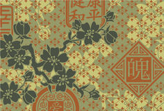 Traditional Oriental style wallpaper Royalty Free Stock Images