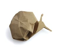 Traditional origami snail Stock Photography