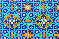 Traditional ornament of ceramics at the mosque Stock Photography