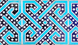 Traditional ornament of ceramics at the mosque. Traditional decoration of ceramics at the mosque in Tashkent (Uzbekistan Royalty Free Stock Image