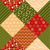 Traditional ornament patchwork pattern illustration. Stock Images