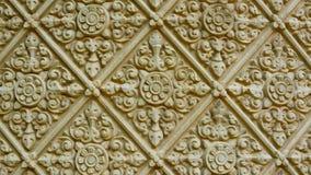 Traditional ornament on a stone wall. Cambodia, Phnom Penh Royalty Free Stock Photos
