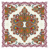 Traditional Ornamental Floral Paisley Bandana Stock Photos