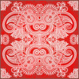 Traditional Ornamental Floral Paisley Bandana Stock Images