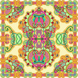 Traditional Ornamental Floral Paisley Bandana Royalty Free Stock Image