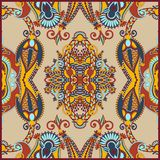Traditional Ornamental Floral Paisley Bandana Stock Photo