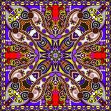 Traditional ornamental floral paisley bandanna Royalty Free Stock Images